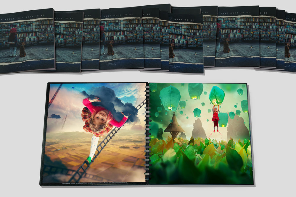 """A world that used to be - Limited Edition - The book contain 128 page and 126 artwork. The bigger book (30cm x 30cm) is amazing quality, hard cover, all pages are printed on Silky mate 260gr, water resistant, printed on Epson Stylus 1500, maximum quality. Is a guarantee of 100 years to stay the same colors. The smaller one (20cm x 20cm) is printed on regular glossy paper, 20cm x 20cm, 90gr., with 300gr laminated hardcover. There will be ONLY 14 book's available, all personally signed and numbered. Worldwide shipping. - """